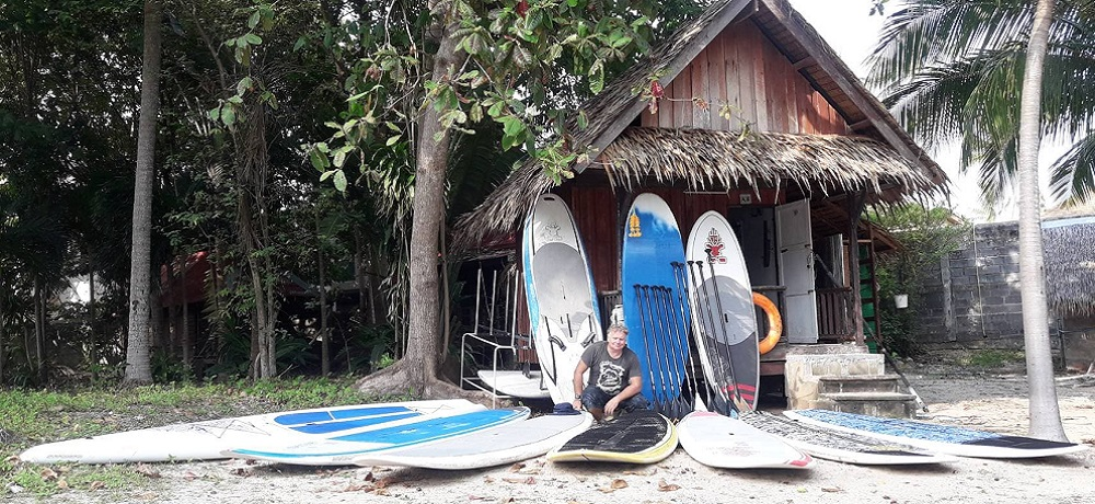 windsurf sup surf paddleboard in samui